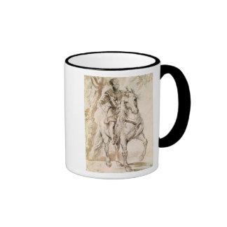 Study for an equestrian portrait ringer coffee mug