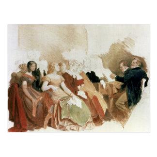 Study for An Evening at Baron von Spaun s Postcards