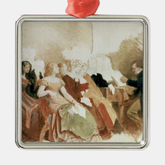Study for An Evening at Baron von Spaun's Metal Ornament