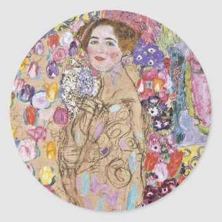 Study for Art Nouveau Woman Classic Round Sticker