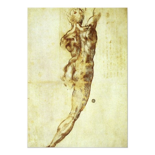 Study for Battle Cascina Michelangelo Renaissance Card