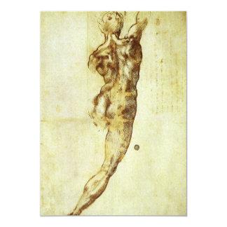 Study for Battle Cascina Michelangelo Renaissance Custom Invitations