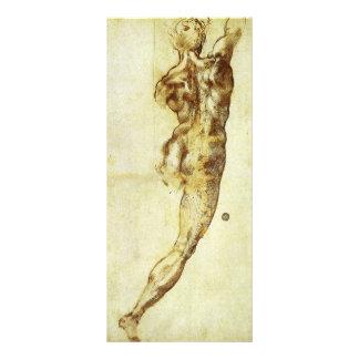 Study for Battle Cascina Michelangelo Renaissance Rack Card