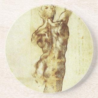 Study for Battle Cascina Michelangelo Renaissance Sandstone Coaster