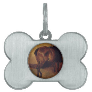 Study for Bay horse seen from behind Pet Name Tag