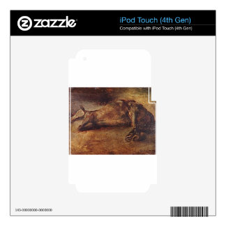 Study for Dead horse by Theodore Gericault iPod Touch 4G Decals