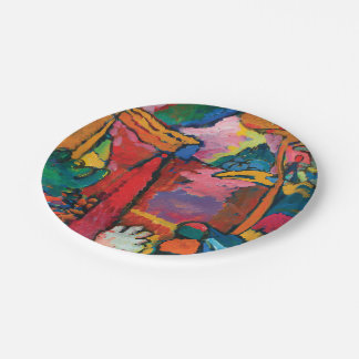 Study for Improvisation V by Wassily Kandinsky Paper Plate