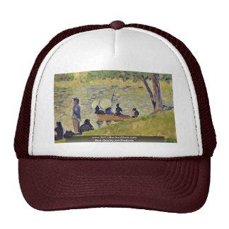 """Study For La Grande Jatte ' """""""" By Seurat Georges Trucker Hat"""