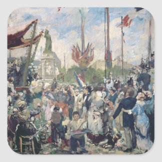 Study for 'Le 14 Juillet 1880', 1880-84 Square Sticker