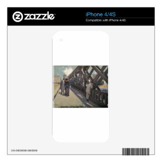 Study for Le Pont de l'Europe by Gustave Caillebot iPhone 4S Skins