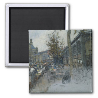 Study for Les Halles, 1893 2 Inch Square Magnet