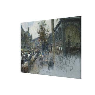 Study for Les Halles, 1893 Canvas Print