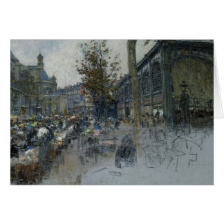 Study for Les Halles, 1893 Card