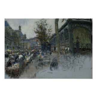 Study for Les Halles, 1893 Poster