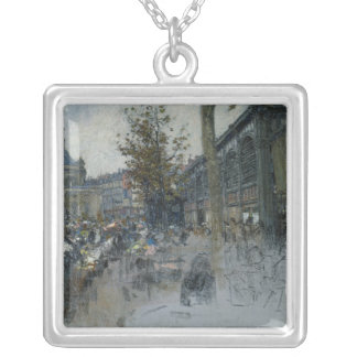Study for Les Halles, 1893 Silver Plated Necklace