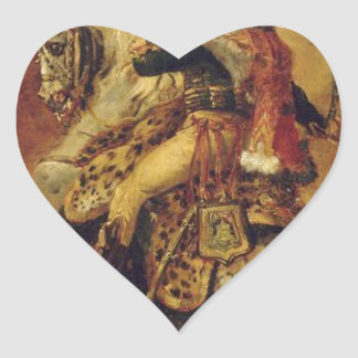 Study for Officer of Chasseurs of the Imperial... Heart Sticker