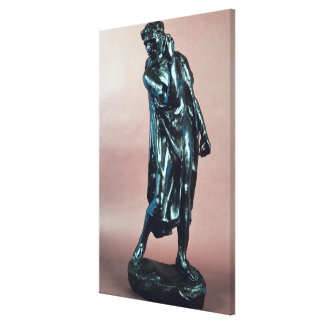 Study for Pierre de Wissant, from the Burghers of Canvas Print