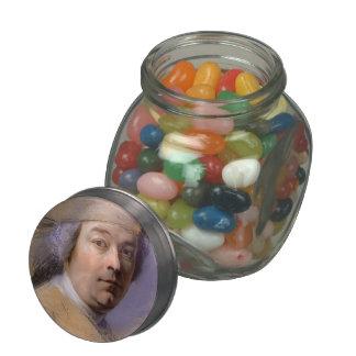 Study for portrait of man by Maurice La Tour Glass Jars