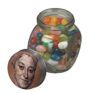 Study for Portrait of woman by Maurice La Tour Glass Jars