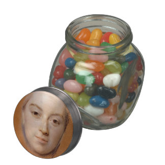 Study for Portrait of woman by Maurice La Tour Jelly Belly Candy Jar