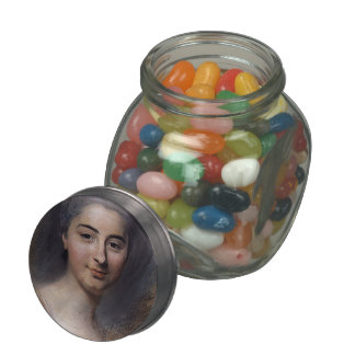 Study for Portrait of woman by Maurice La Tour Jelly Belly Candy Jars