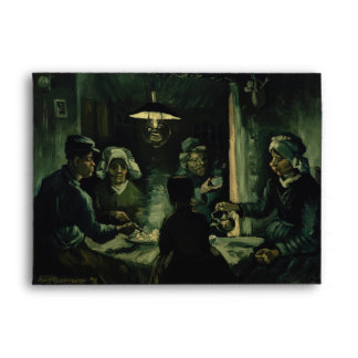 Study for Potato Eaters by Vincent Van Gogh Envelope