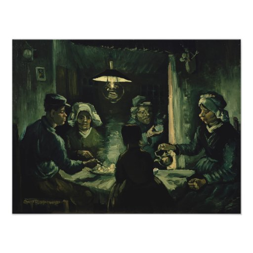 Study for Potato Eaters by Vincent Van Gogh Photo Print