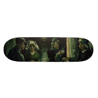 Study for Potato Eaters by Vincent Van Gogh Skate Board Decks