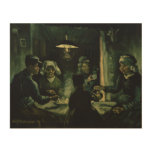Study for Potato Eaters by Vincent Van Gogh Wood Canvas