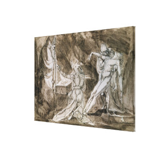 """Study for """"Saul and the Witch of Endor"""" Canvas Print"""