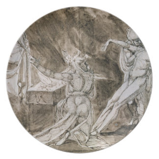Study for Saul and the Witch of Endor Plate