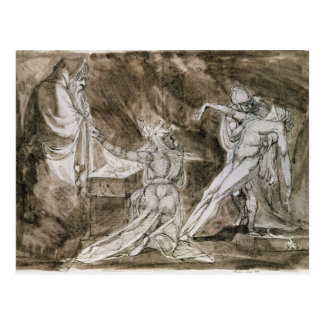 """Study for """"Saul and the Witch of Endor"""" Postcard"""