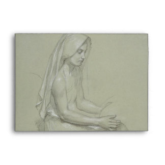 Study for Seated Female Figure by Bouguereau Envelope