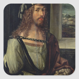 Study for Self Portrait with a Glove c 1498 Stickers
