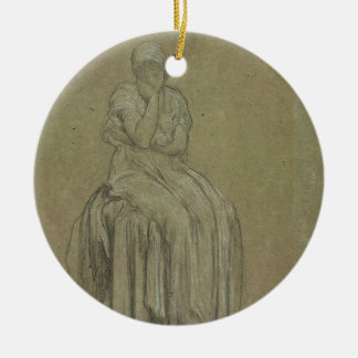 Study for Solitude, c.1890 (chalk on paper) Ceramic Ornament