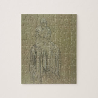 Study for Solitude, c.1890 (chalk on paper) Jigsaw Puzzle