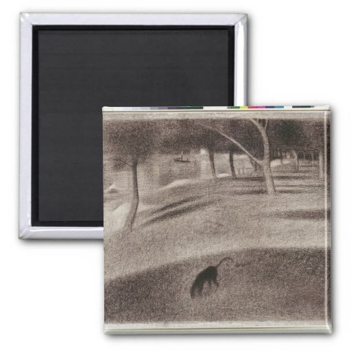 Study for Sunday Afternoon 2 Inch Square Magnet