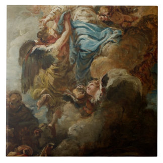Study for the Assumption of the Virgin, c.1760 2 Ceramic Tile