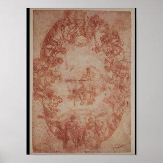 Study for the ceiling of the Casa de Pilatos Poster