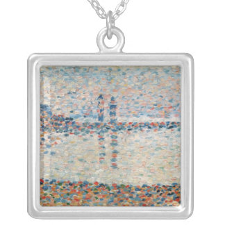 Study for 'The Channel at Gravelines Evening' Silver Plated Necklace