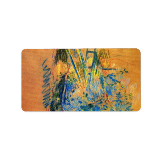 Study for the cherry tree by Berthe Morisot Address Label