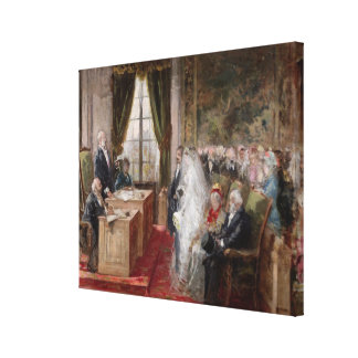 Study for the Civil Marriage Canvas Print
