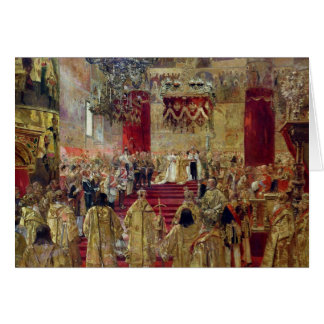 Study for the Coronation of Tsar Nicholas II Card