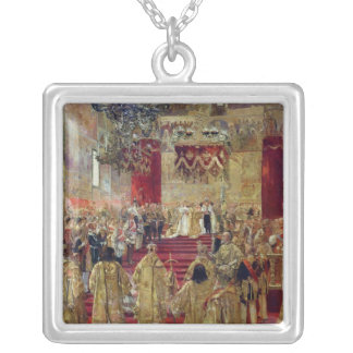 Study for the Coronation of Tsar Nicholas II Silver Plated Necklace