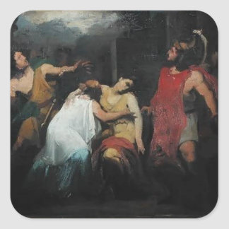 Study for the Death of Lucretia  by Pierre Guerin Square Sticker