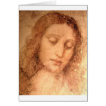 Study for the head of Jesus in The Last Supper Greeting Cards