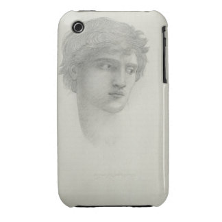 Study for the Head of Perseus (pencil on paper) iPhone 3 Case-Mate Case