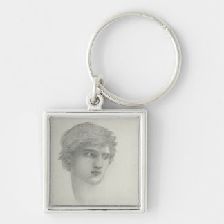 Study for the Head of Perseus (pencil on paper) Keychain