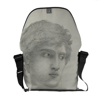 Study for the Head of Perseus (pencil on paper) Courier Bag
