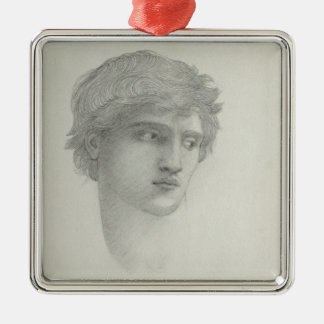 Study for the Head of Perseus (pencil on paper) Metal Ornament